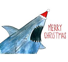 Santa Jaws Photographic Print