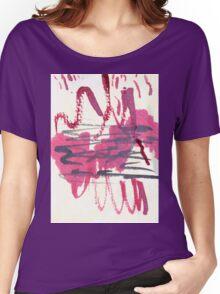 crimson scribble Women's Relaxed Fit T-Shirt