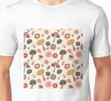 Woodland Floral Seamless Pattern Unisex T-Shirt