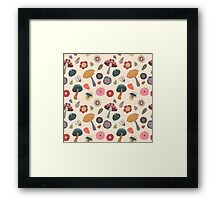 Woodland Floral Seamless Pattern Framed Print