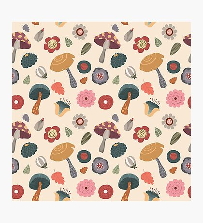 Woodland Floral Seamless Pattern Photographic Print