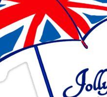 Union jack weather umbrella Sticker