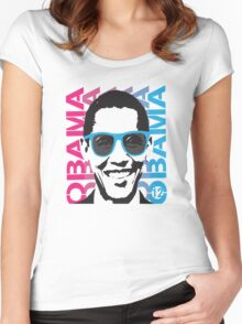 Cool Obama 2012 Women's T Shirt Women's Fitted Scoop T-Shirt