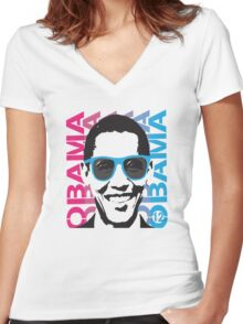 Cool Obama 2012 Women's T Shirt Women's Fitted V-Neck T-Shirt