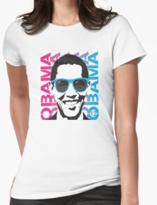 Cool Obama 2012 Women's T Shirt Womens Fitted T-Shirt