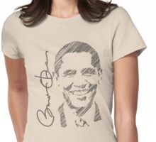 Obama Sketch 2012 Women's Shirt Womens Fitted T-Shirt