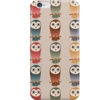 Woodland Owls Seamless Pattern iPhone Case/Skin