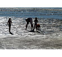 People,Sillouettes,Sand & Sea, Magnetic Island, Queensland. Photographic Print