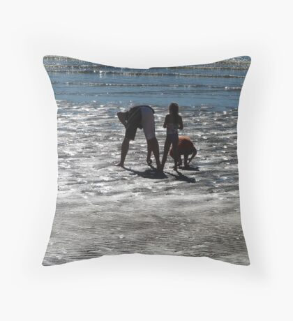 People,Sillouettes,Sand & Sea, Magnetic Island, Queensland. Throw Pillow