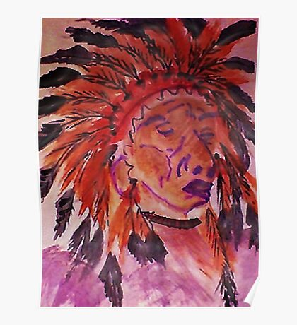 The Chief, watercolor Poster