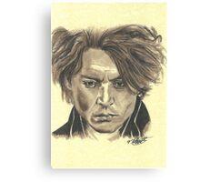 Johnny Depp - Ichabod Crane Canvas Print