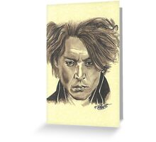 Johnny Depp - Ichabod Crane Greeting Card