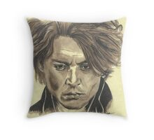 Johnny Depp - Ichabod Crane Throw Pillow