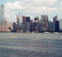 New York Harbour Skyline Sticker