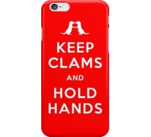 Keep Clams and Hold Hands (Otters Holding Hands) iPhone Case/Skin
