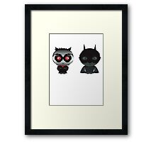 Batman and Catwoman Framed Print
