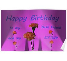 Happy Birthday - Best Friend and Sister! Poster