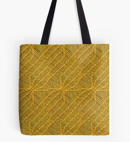 Yellow Lines Knit Tote Bag