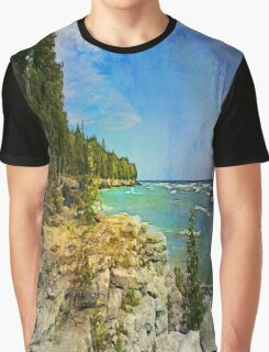 Lake Michigan,Wisconsin Graphic T-Shirt