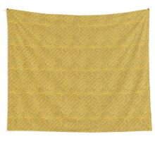 Yellow Lines Knit Wall Tapestry