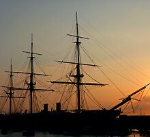 Sunset of the Tallships by Ken Griffith