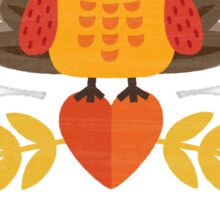 Thanksgiving Owl in Turkey Costume and Pilgrim Hat Sticker