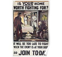 Is your home worth fighting forIt will be too late to fight when the enemy is at your door so join to day 176 Poster