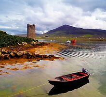 Granuaile's Tower Achill by Michael Walsh