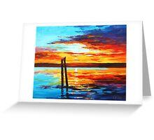 Swansea Sunset Greeting Card