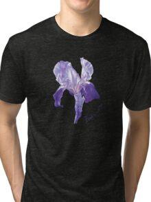 Iris watercolor painting Tri-blend T-Shirt