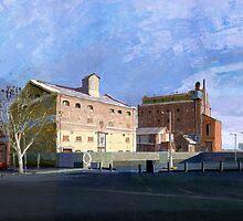 Harts Mill 5pm by David  Kennett