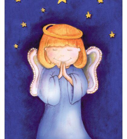 Christmas praying angel Sticker