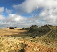 Housesteads Crag, Hadrian's Wall by Joan Thirlaway