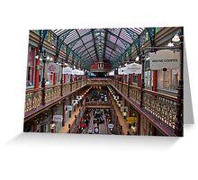 Indoor Landscape:_old arcade Sydney Greeting Card