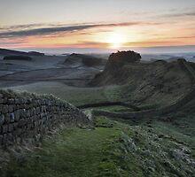Cuddys Crag on Hadrian's Wall by Joan Thirlaway