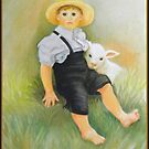 Amish Little Boy With Sheep by Noel78