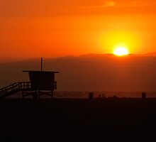 Sunset at Santa Monica by mattiaterrando