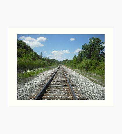 Traintracks Art Print