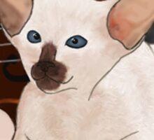 Kitten's Violin - BF Polaroid Sticker
