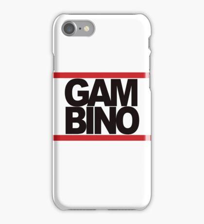 RUN GAMBINO iPhone Case/Skin