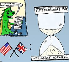 Assange and the Ecuadorian Embassy cartoon by bubbleicious