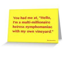 Hello. Greeting Card