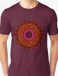 Fire Flower Mandala 6 T-Shirt