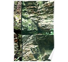 Rock Wall Glitch Poster