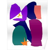 Purple Ribbon Orange Star Dark Night Poster