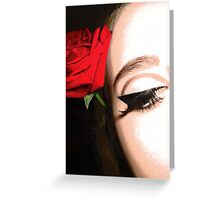 Roses and Eyeliner Greeting Card