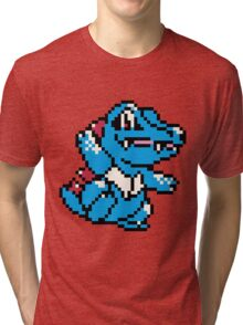 Pokemon - Totodile Sprite Tri-blend T-Shirt