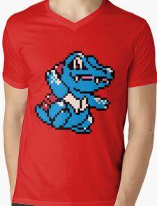 Pokemon - Totodile Sprite Mens V-Neck T-Shirt