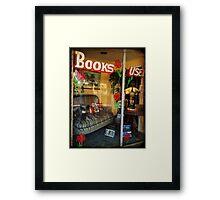 Used Books Framed Print