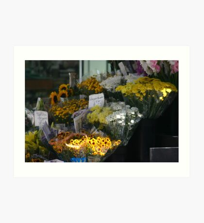 San Francisco Flower Stand Art Print